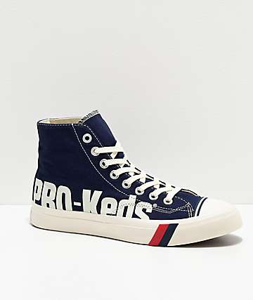 Pro-Keds Royal Hi Logo Navy & White Shoes