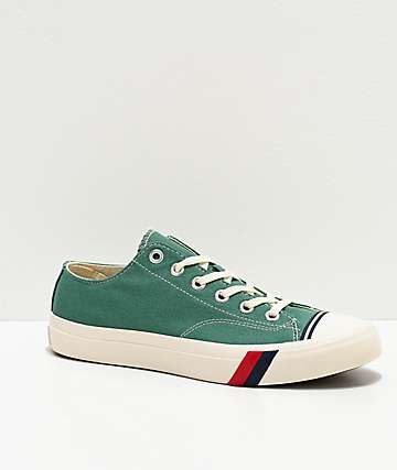 Pro-Keds Royal Low Deep Sea Green & White Shoes