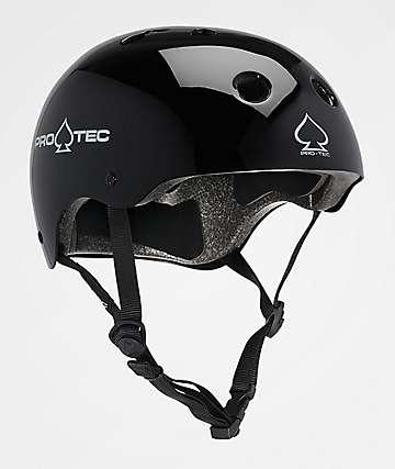 Pro-Tec CPSC Classic Gloss Black Skate Helmet
