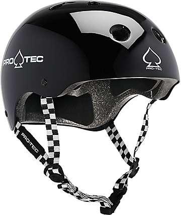 Pro-Tec Classic casco de skate con patrón cuadrado