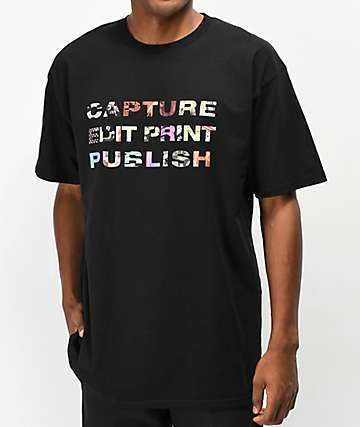 Publish Capture Edit Print Black T-Shirt