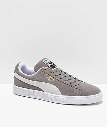 Puma Suede Classic+ Steeple Grey & White Shoes
