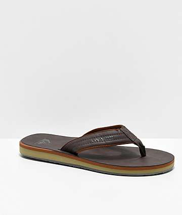 Quiksilver Carver Nubuck Demitasse Brown Sandals