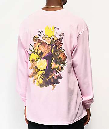 RIPNDIP Heavenly Bodies Pink Long Sleeve T-Shirt