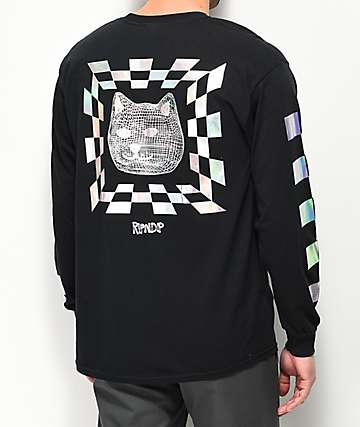 RIPNDIP Illusion Black Long Sleeve T-Shirt