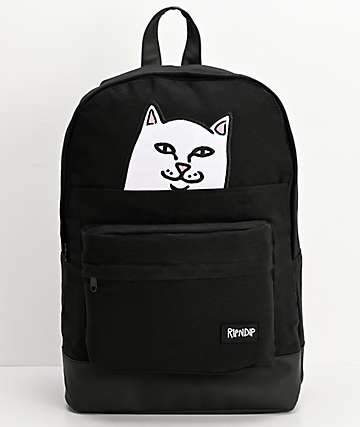 RIPNDIP Lord Nermal Black Backpack