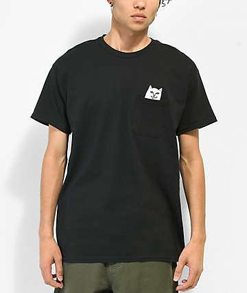 RIPNDIP Lord Nermal Black Pocket T-Shirt