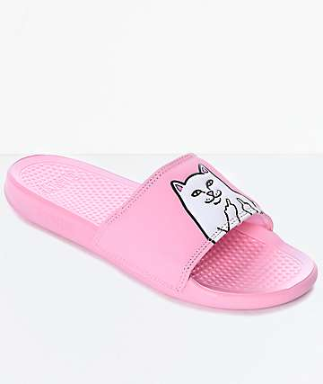 RIPNDIP Lord Nermal Pink Slide Sandals