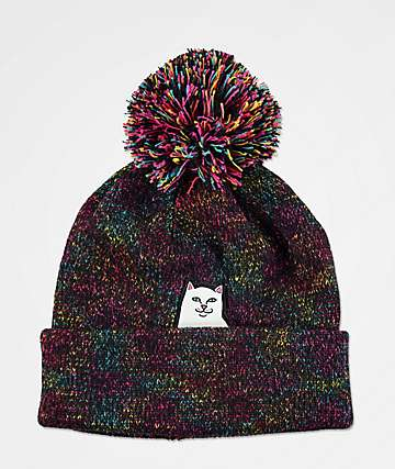 RIPNDIP Lord Nermal Speckle Black Pom Beanie