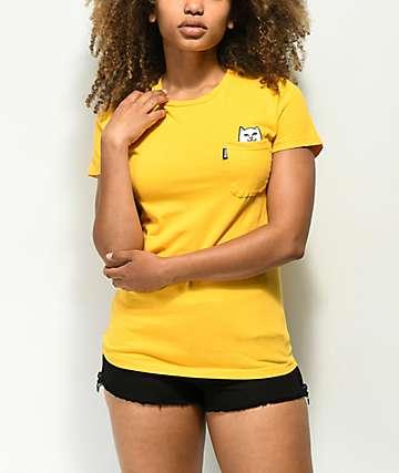 RIPNDIP Lord Nermal Yellow Pocket T-Shirt