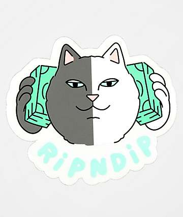 RIPNDIP Money Talks Sticker