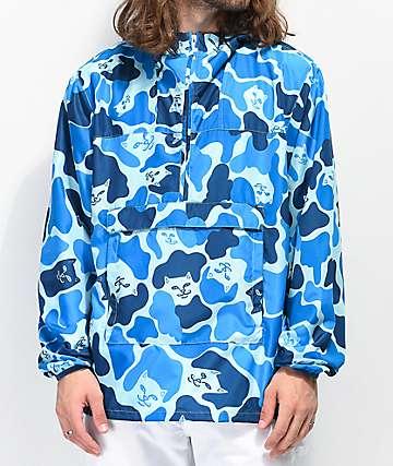 RIPNDIP Nerm Camo Blue Fanorak Jacket