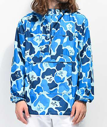 RIPNDIP Nerm Fanorak chaqueta de camuflaje azul