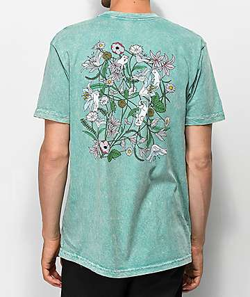 RIPNDIP Nermal Flowers Sage Vintage Wash T-Shirt