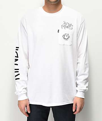 RIPNDIP Nermaniac White Long Sleeve T-Shirt
