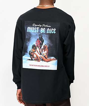 RIPNDIP Pictures Must Be Nice Black Long Sleeve T-Shirt