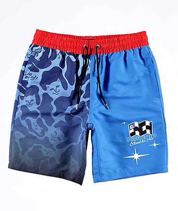 RIPNDIP Racecar Nerm Blue & Red Board Shorts