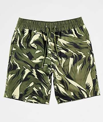 RIPNDIP Tiger Nerm shorts de baño de camuflaje de cintura elástica