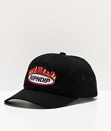 RIPNDIP Welcome To Heck Black Strapback Hat