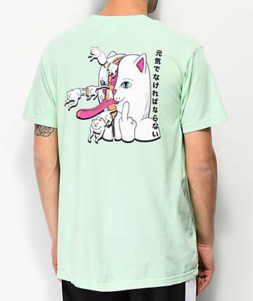 RIPNDIP Zipper Face Mint T-Shirt