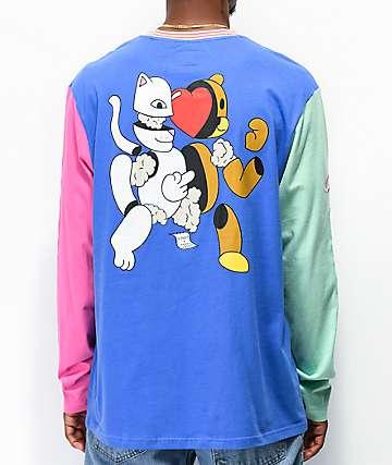 RIPNDIP x Teddy Fresh 2.0 Colorblock camiseta de manga larga