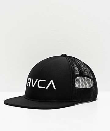 RVCA Black Trucker Hat