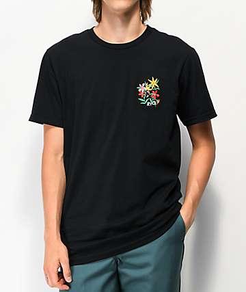 RVCA Bouquet Black T-Shirt
