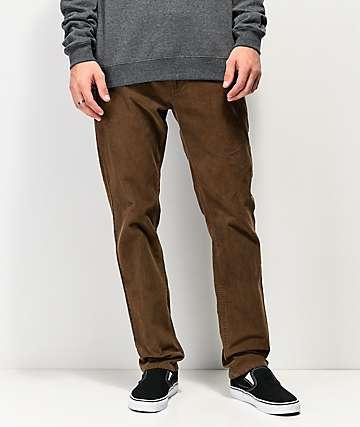 RVCA Daggers Pigment II pantalones de pana marrón