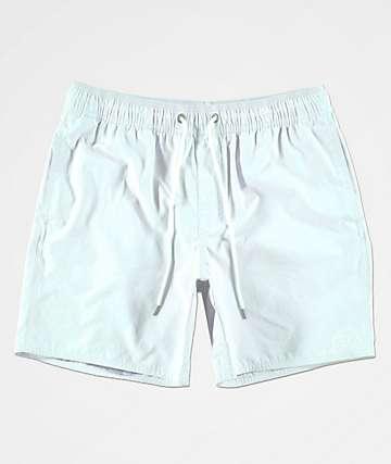 RVCA Gerrard Blue Elastic Waist Board Shorts