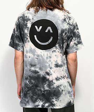 RVCA Happy Sad Grey Tie Dye T-Shirt