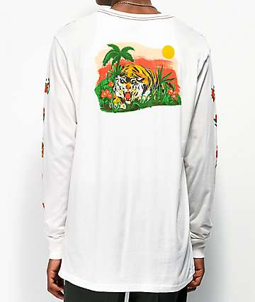 RVCA Jungle White Long Sleeve T-Shirt