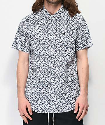 RVCA Porcelain White Short Sleeve Button Up Shirt