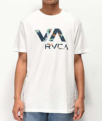 RVCA VA Floral Fill White T-Shirt
