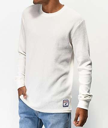 RVCA x Matty Matheson Thermal White Long Sleeve T-shirt