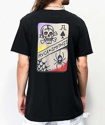 RVCA x Smith Street Tattoo Black T-Shirt