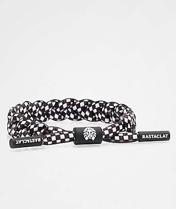 Rastaclat Checkered Black & White Medium-Large Bracelet