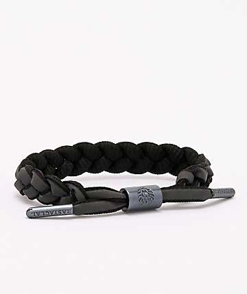 Rastaclat Void Black & Reflective Multi Braid Bracelet