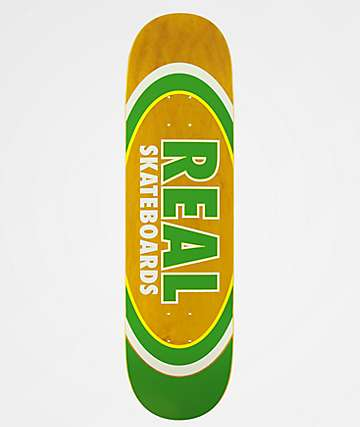 "Real Dual Oval Slick 8.25"" Skateboard Deck"