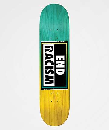 """Real End Racism 8.5"""" Skateboard Deck"""
