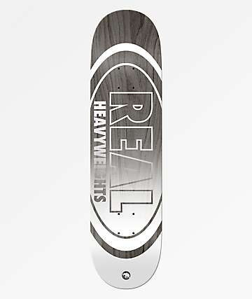 "Real Heavyweight Grey 8.5"" Skateboard Deck"