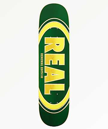 "Real Ovalduo Fade Green 7.75"" Skateboard Deck"