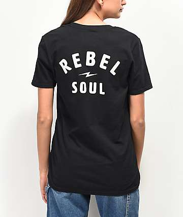Rebel Soul Black T-Shirt