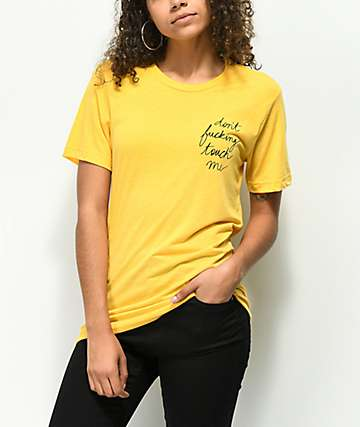 Rebel Soul Don't Fucking Touch Me Yellow T-Shirt