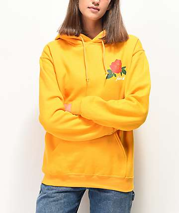 Rebel Soul Fuck It Rose Yellow Hoodie