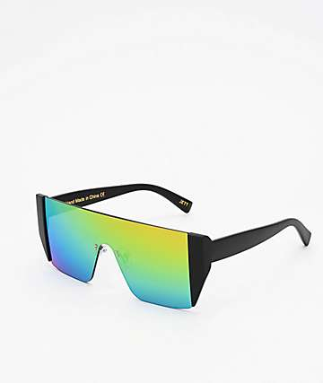 Revo Shield Black & Rainbow Sunglasses