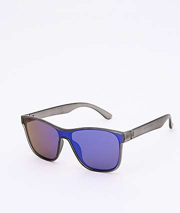 Revo Wayfarer Black & Blue Sunglasses