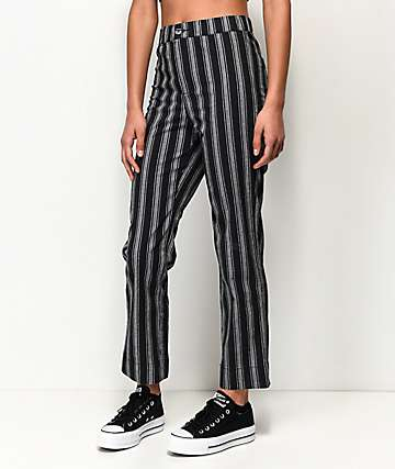 Rewind Jilden Black & White Stripe Crop Pants