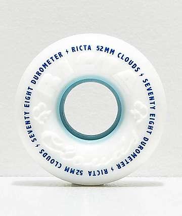 Ricta Clouds 52mm 78a White Skateboard Wheels