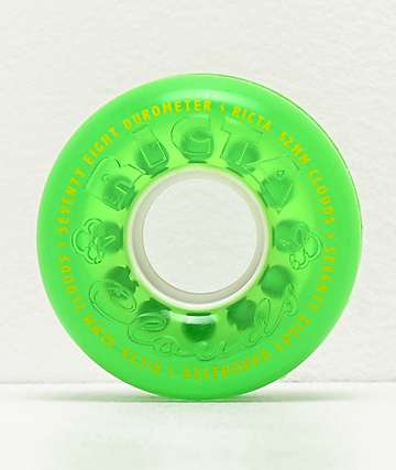 Ricta Crystal Clouds 52mm 78a Green Skateboard Wheels