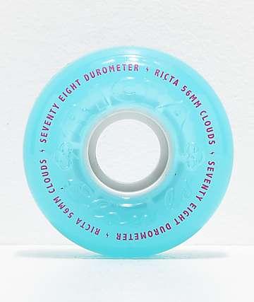 Ricta Crystal Clouds 56mm 78a Teal Skateboard Wheels
